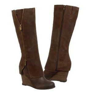 Leather Fergie Zip Boots